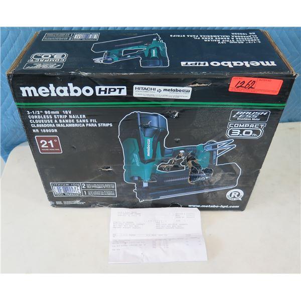 "Hitachi Metabo HPT NR1890DR Cordless Strip Nailer 3-1/2"" in Box  (Returned Item)"