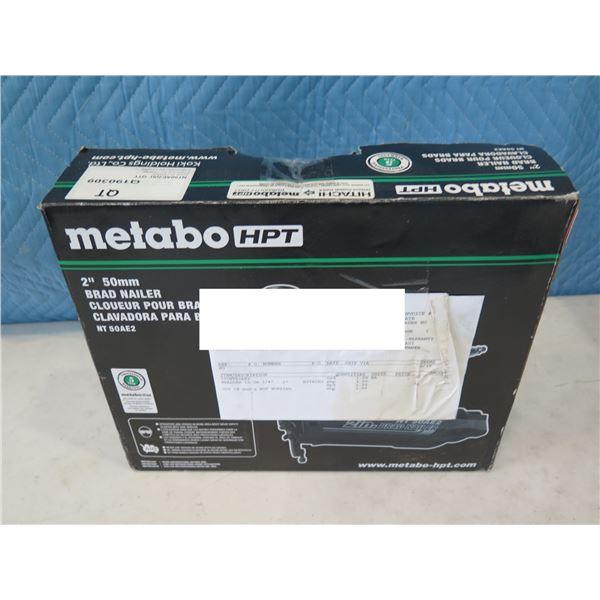 "Hitachi Metabo HPT NT50AE2 Brad Nailer 2"" in Box  (Returned Item)"