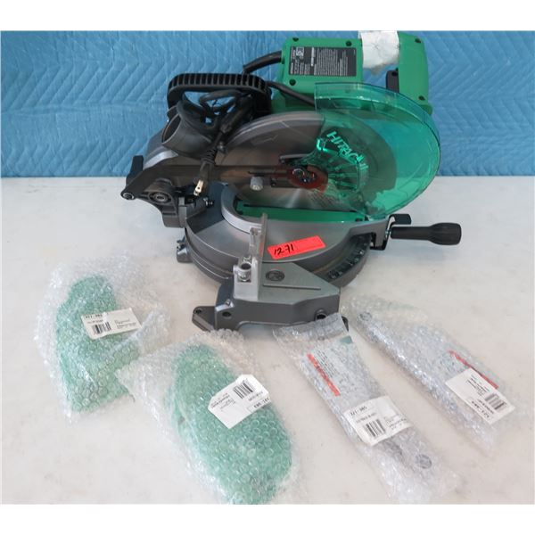 """Hitachi C10FCG Single Bevel Miter Saw 10"""" w/ Pulley Covers  (Returned Item)"""