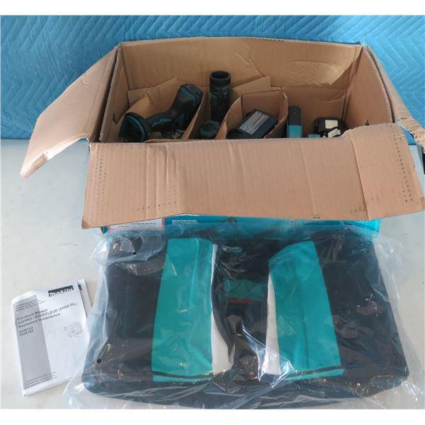 Makita Combo Kit Driver-Drill, Impact Drive, Recipro Saw, Blower, Flashlight