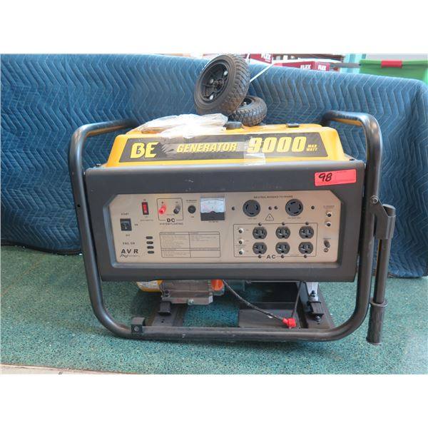 BE Generator, Electric Start, Model BE-9000ERUSC 15HP (Returned Item - being sold for parts/repair)