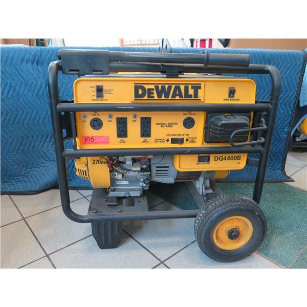 Dewalt 4400 Watt Generator, Model DG400B (Returned Item - being sold for parts/repair)