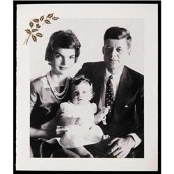 JOHN F. KENNEDY SIGNED 1958 CHRISTMAS CARD