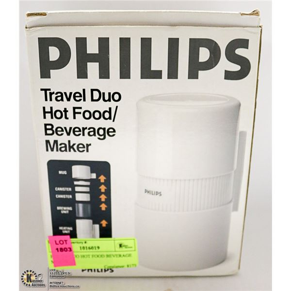 PHILIPS DUO HOT FOOD/ BEVERAGE MAKER