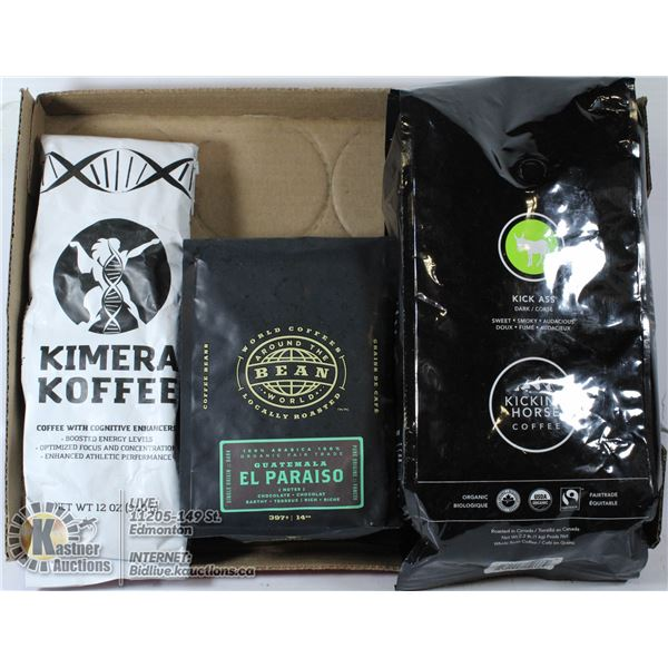 FLAT OF ASSORTED BRAND NAME COFFEE