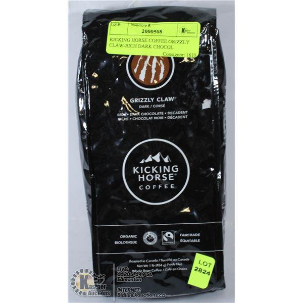 KICKING HORSE COFFEE GRIZZLY CLAW-RICH DARK CHOCOL