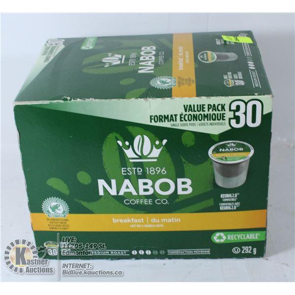 NABOB COFFEE PODS 30PACK BREAKFAST BLEND
