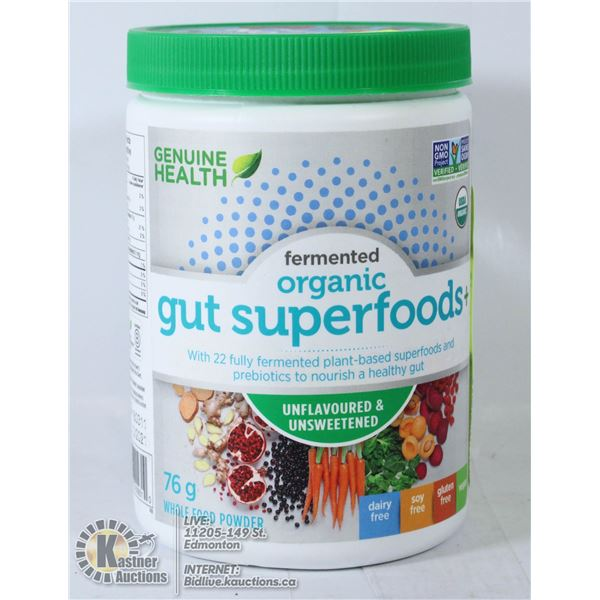 FERMENTED ORGANIC GUT SUPERFOOD 76G WHOLE FOOD PO