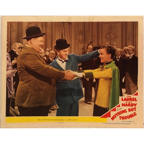 Laurel & Hardy: Nothing But Trouble Original 1945 Vintage Lobby Card