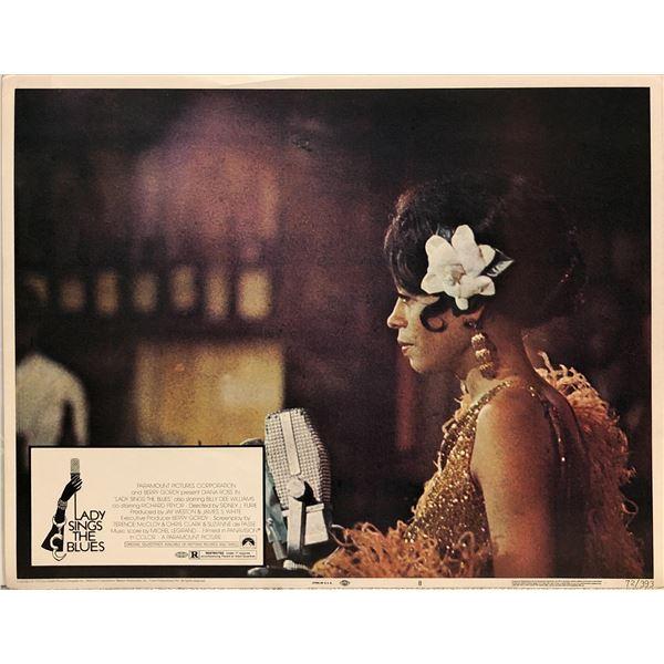 Lady Sings the Blues Original 1972 Vintage Lobby Card