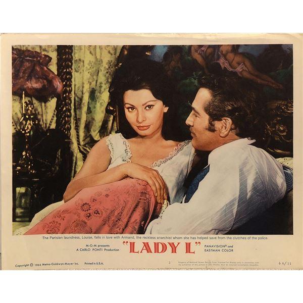 Lady L Original 1966 Vintage Lobby Card