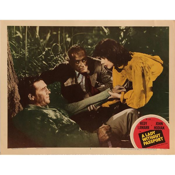 A Lady Without A Passport Original 1950 Vintage Lobby Card