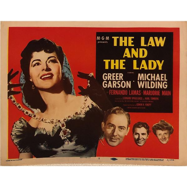 The Law and the Lady Original 1951 Vintage Lobby Card