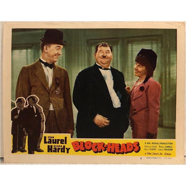 Laurel & Hardy: Block-Heads Original 1947R Vintage Lobby Card