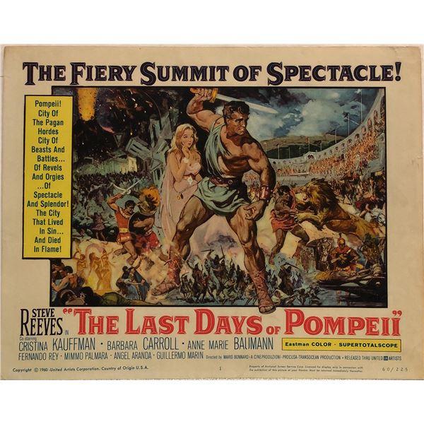 Last Days of Pompeii Original 1960 Vintage Lobby Card