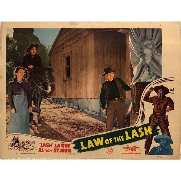 Law of the Lash Original 1947 Vintage Lobby Card