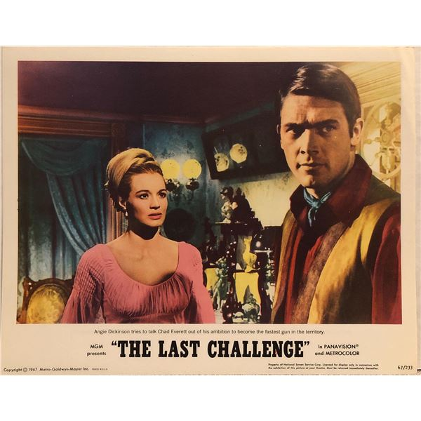 The Last Challenge Original 1967 Vintage Lobby Card