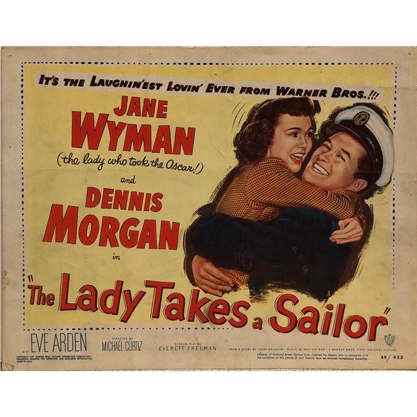 The Lady Takes a Sailor Original 1949 Vintage Lobby Card
