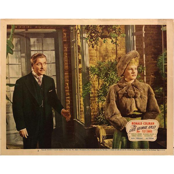 The Late George Apley Original 1946 Vintage Lobby Card