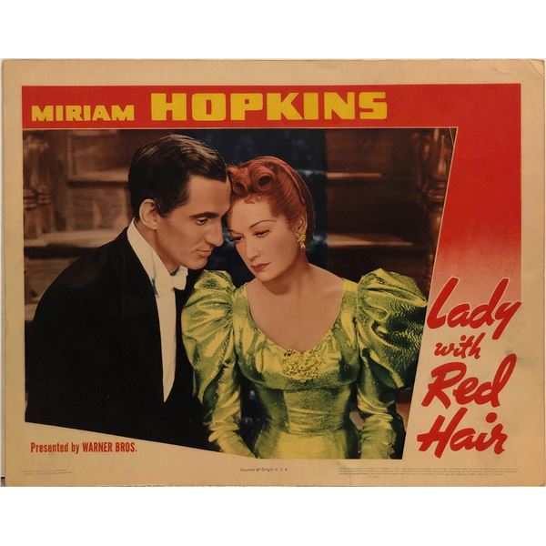 Lady with Red Hair Original 1940 Vintage Lobby Card