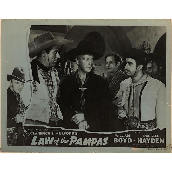 Law of the Pampas Original 1948R Vintage Lobby Card