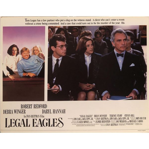 Legal Eagles Original 1986 Vintage British Lobby Card