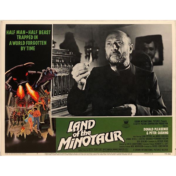 Land of the Minotaur Original 1977 Vintage Lobby Card