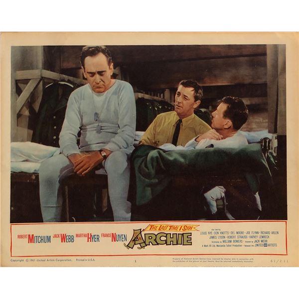 The Last Time I Saw Archie Original 1961 Vintage Lobby Card