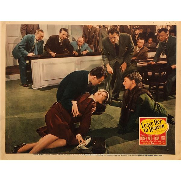 Leave Her to Heaven Original 1945 Vintage Lobby Card