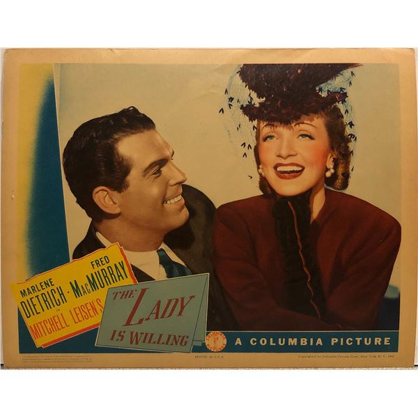 The Lady is Willing Original 1942 Vintage Lobby Card