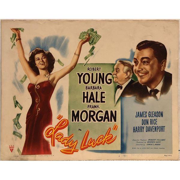 Lady Luck Original 1946 Vintage Lobby Card