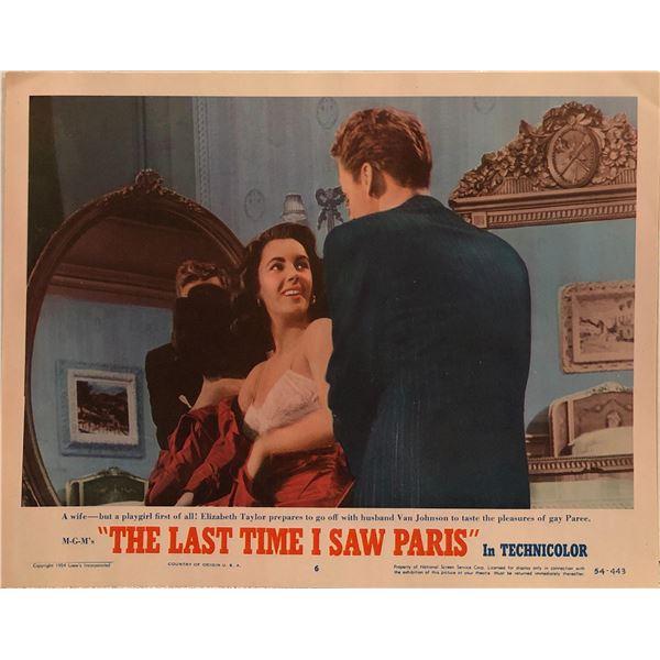The Last Time I Saw Paris Original 1954 Vintage Lobby Card