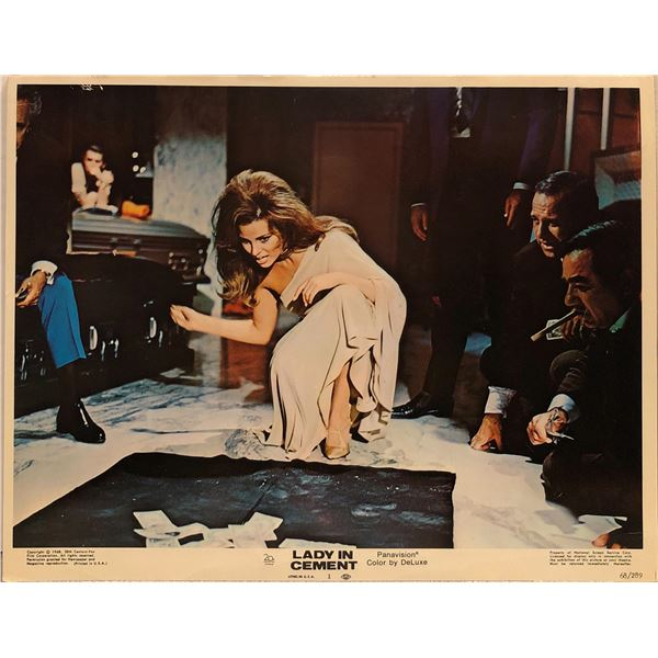 Lady in Cement Original 1968 Vintage Lobby Card