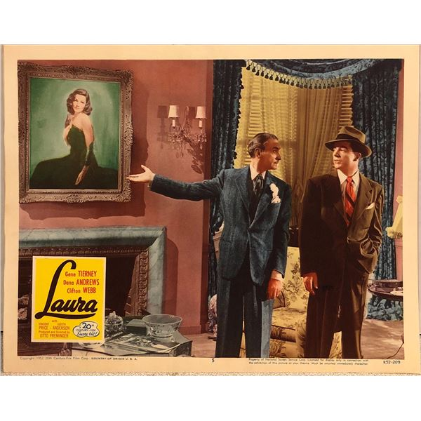 Laura Original 1952R Vintage Lobby Card
