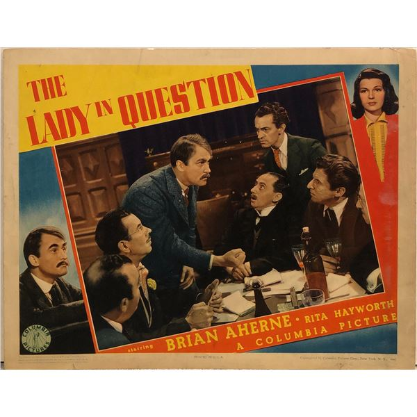 The Lady in Question Original 1940 Vintage Lobby Card