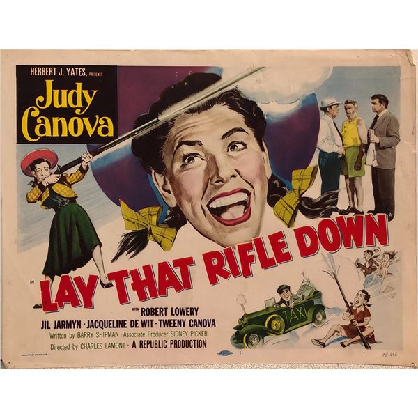 Lay That Rifle Down Original 1955 Vintage Lobby Card