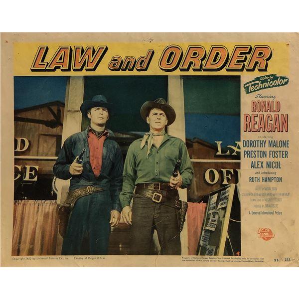 Law and Order Original 1953 Vintage Lobby Card