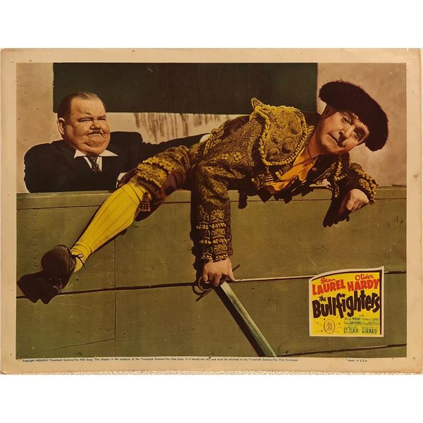 Laurel & Hardy: The Bullfighters Original 1945 Vintage Lobby Card