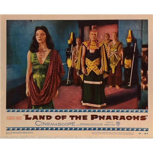Land of the Pharoahs Original 1955 Vintage Lobby Card