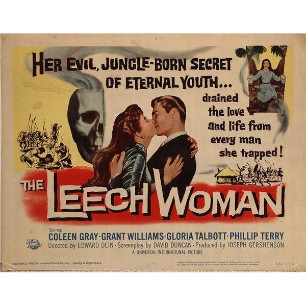 The Leech Woman Original 1960 Vintage Lobby Card