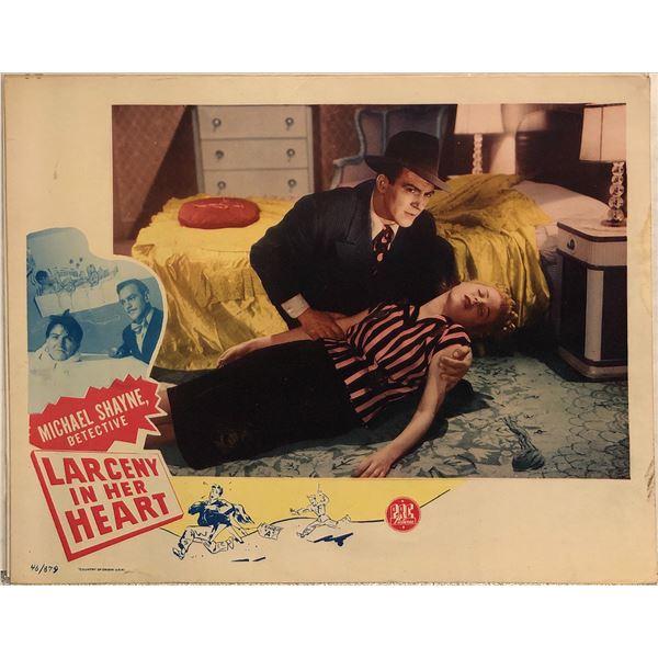Larceny in Her Heart Original 1946 Vintage Lobby Card