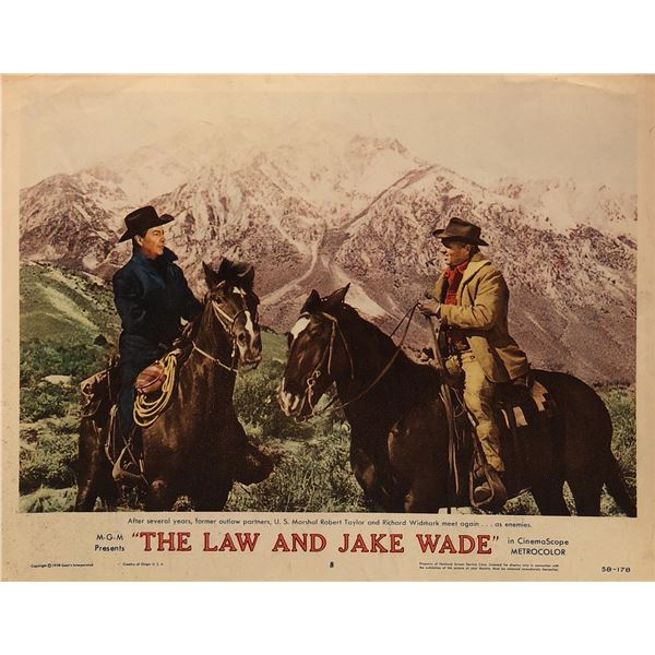 The Law and Jake Wade Original 1958 Vintage Lobby Card