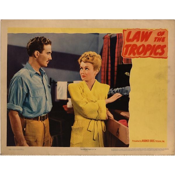 Law of the Tropics Original 1941 Vintage Lobby Card