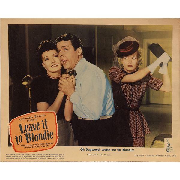 Leave it to Blondie Original 1945 Vintage Lobby Card