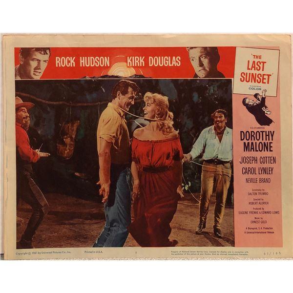 The Last Sunset Original 1961 Vintage Lobby Card