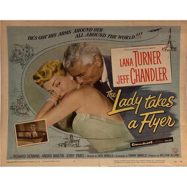 Lady Takes a Flyer Original 1958 Vintage Lobby Card