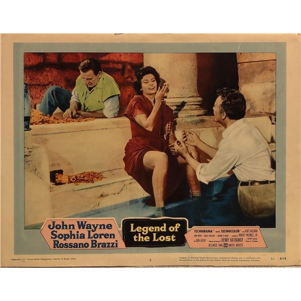 Legend of the Lost Original 1957 Vintage Lobby Card