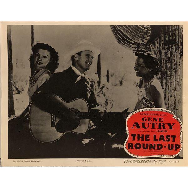 The Last Round-Up Original 1954R Vintage Lobby Card
