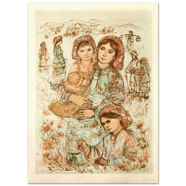 Family in the Field by Hibel (1917-2014)