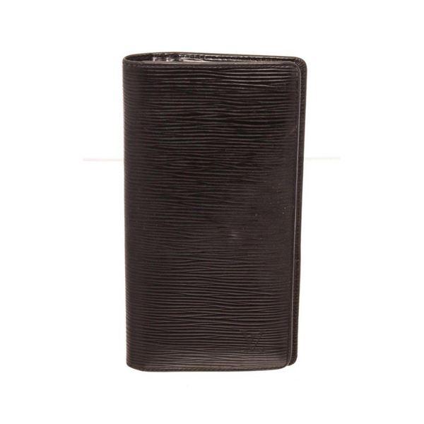 Louis Vuitton Black Leather Brazza Wallet